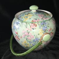 Shelley 'Melody' Chintz Biscuit Barrel 1930's