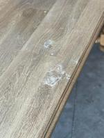 French Bleached Oak Refectory Farmhouse Dining Table (9 of 26)