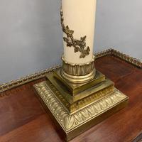 Impressive Pair of Brass & Enamelled Vine Lamps (5 of 7)