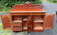 1900's Large Carved Mahogany 3 Door Sideboard with Back (2 of 4)