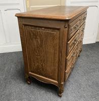 Stylish French Oak Chest of Drawers (16 of 18)
