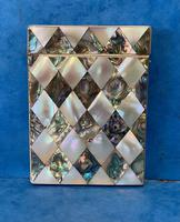 Victorian Abalone & Mother of Pearl Card Case (2 of 15)
