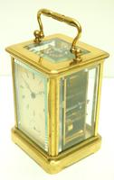 Good Antique French 8-day Carriage Clock Bevelled Case with Bell Alarm Feature (4 of 13)