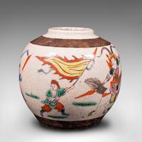 Small Antique Flower Vase, Japanese, Ceramic, Posy Urn, Edo Period c.1850 (5 of 12)