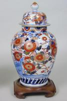 Good Pair of 19th Century Imari Porcelain Lidded Vases on Stands (4 of 10)