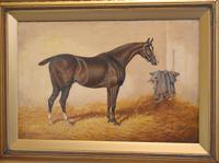 Monarch, Oil Painting of a Horse by William Eddowes Turner (3 of 8)