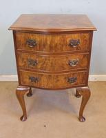 Small Burr Walnut Shaped Front Chest of Drawers (8 of 8)