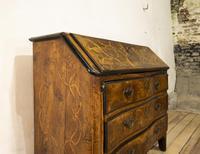 18th Century Italian Piemonte Walnut Serpentine Bureau (12 of 14)