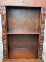 English Small Regency Style Dwarf Recessed Mahogany Open Bookcase (16 of 44)