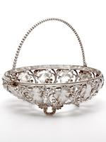 Victorian Silver Plated Basket with the Original Cranberry Glass Liner (4 of 6)