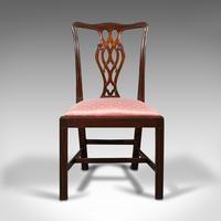 8 Antique Chippendale Revival Chairs, English, Mahogany, Dining Seat, Victorian (3 of 12)