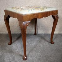 Carved Mahogany Cabriole Leg Stool In The Queen Anne Style (9 of 9)