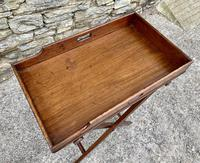 Small Antique Mahogany Butlers Tray on Stand (7 of 15)