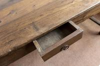 19th Century Oak Farmhouse Table with Drawer (4 of 9)