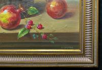 Original Vintage Still Life of Fruit & Flowers - 'Tom Caspers' 20thc British (4 of 12)