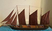 Cased Ships Model: 3-Masted Schooner (2 of 5)