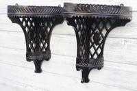 Aesthetic Movement, pierce-work corner shelves with galleries (a pair) c.1880 (31 of 35)