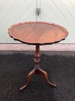 Antique Walnut Tripod Wine Table