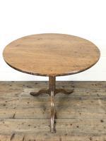 Antique Oak Circular Tripod Table (2 of 9)