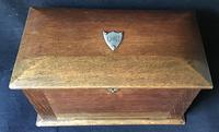 Antique Oak Stationary / Writing Cabinet (4 of 6)