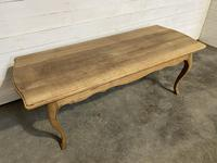 Bandy Leg French Bleached Oak Farmhouse Table (5 of 15)