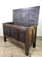 18th Century Carved Oak Coffer (7 of 10)