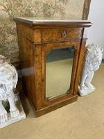 Single Burr Walnut Cabinet with Marble Top (7 of 7)