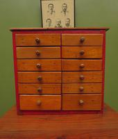 Antique Miniature Scratch Built Bank of Drawers, made from Jamaican Cigar Boxes (14 of 19)