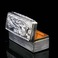 Georgian Solid Silver Snuff Box with Pheasant Scene - Thomas Shaw 1834 (14 of 28)
