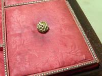 QUALITY Inlaid Rosewood & Amboyna Jewellery – Work Box. c1840 (6 of 16)