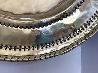 Large Antique Circular Brass Alms Dish (4 of 6)