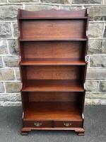 Mahogany Waterfall Open Bookcase