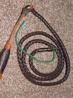 "Vintage Gents Malacca Cane Hunt Whip With Leather Thong - ""G.C.Elsworth"" (4 of 10)"