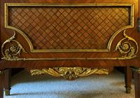Exceptional 19th Century French Kingwood Parquetry Gilt Metal Vitrine Display Cabinet (15 of 17)
