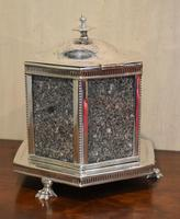 Fine Victorian Silver Plate Biscuit Box or Barrel (7 of 9)