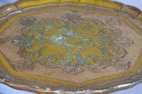 Gold giltwood Florentine three legged pedestal table (3 of 6)