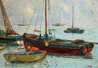Marion Coker Leigh on Sea Fishing Boats Seascape Sailing Oil Painting (10 of 15)