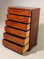 A Very Good Quality Late 19th Century 6 Height Mahogany Chest (3 of 3)