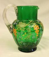 An Antique Green Glass Decorated Jug (2 of 6)