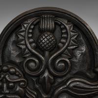Antique Fireback, English, Cast Iron, Decorative Fireplace, Victorian c.1900 (7 of 8)