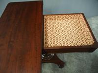 William IV Plum Pudding Mahogany Fold-over Tea Table (5 of 7)
