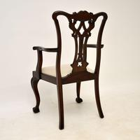 Set of 8 Antique Mahogany Chippendale Dining Chairs (14 of 14)