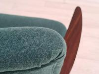 Danish Armchair, completely renovated, wool, teak, 1960s (8 of 16)
