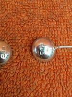 Antique Sterling Silver Pair of Salts & Matching Spoons 1899 William Devenport (10 of 12)