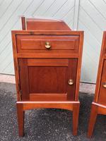 Unusual Pair of Walnut Bedside Cabinet (2 of 13)