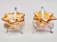 Delightful Pair of Victorian Silver Plated Stands with Glass Salts by John Grinsell & Sons c.1890 (5 of 10)