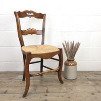 Set of Four Antique French Fruitwood Dining Chairs (2 of 9)