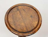 Early 20th Century Oak Torchiere, Plant Stand (4 of 12)