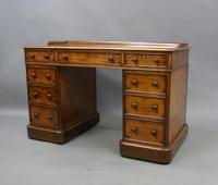 Attractive Mahogany Pedestal Desk (3 of 6)