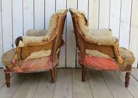 Pair of French Tub Armchairs for re-upholstery (6 of 9)